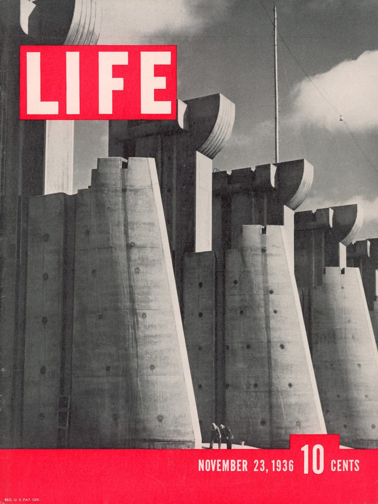 The first LIFE magazine cover, published November 23, 1936. Featuring Ft. Peck Dam in Montana. (Photo by Margaret Bourke-White/The LIFE Picture Collection © Meredith Corporation)