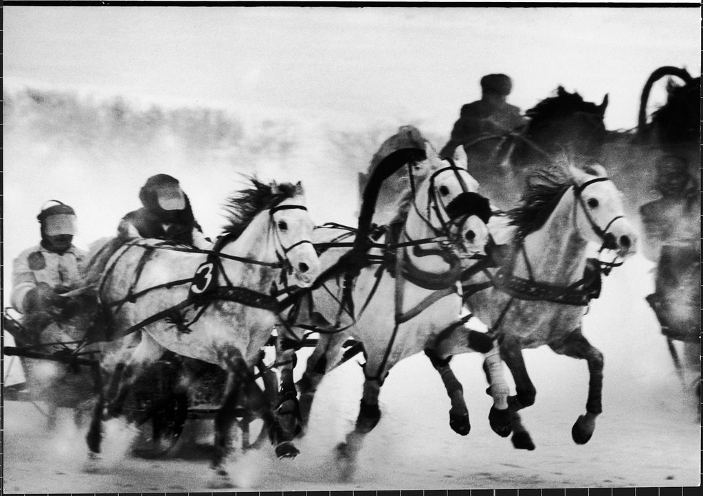 Troika Races at Central Moscow Hippodrome. (Photo by Stan Wayman/The LIFE Picture Collection © Meredith Corporation)