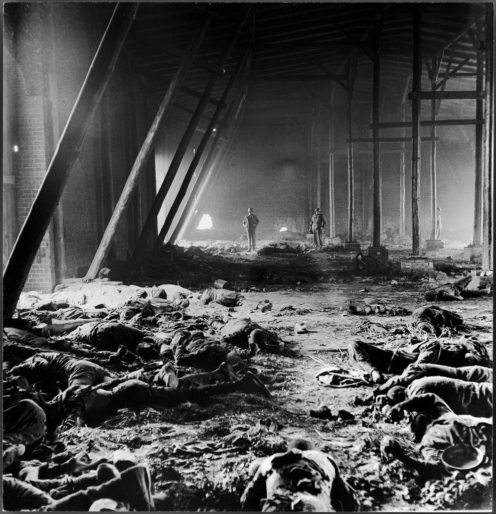 Warehouse where concentration camp prisoners were massacred, Gardelegen, Germany, 1945. (Photo by William Vandivert/The LIFE Picture Collection © Meredith Corporation)