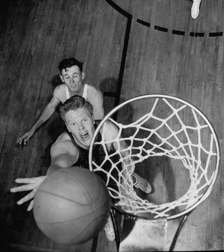 Robert Kirkland playing a game of basketball. (Photo by Robert Capa/The LIFE Picture Collection © Meredith Corporation)