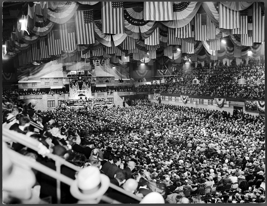 Crowd of 10,000 at America First Committee rally. (Photo by William C. Shrout/The LIFE Picture Collection © Meredith Corporation)