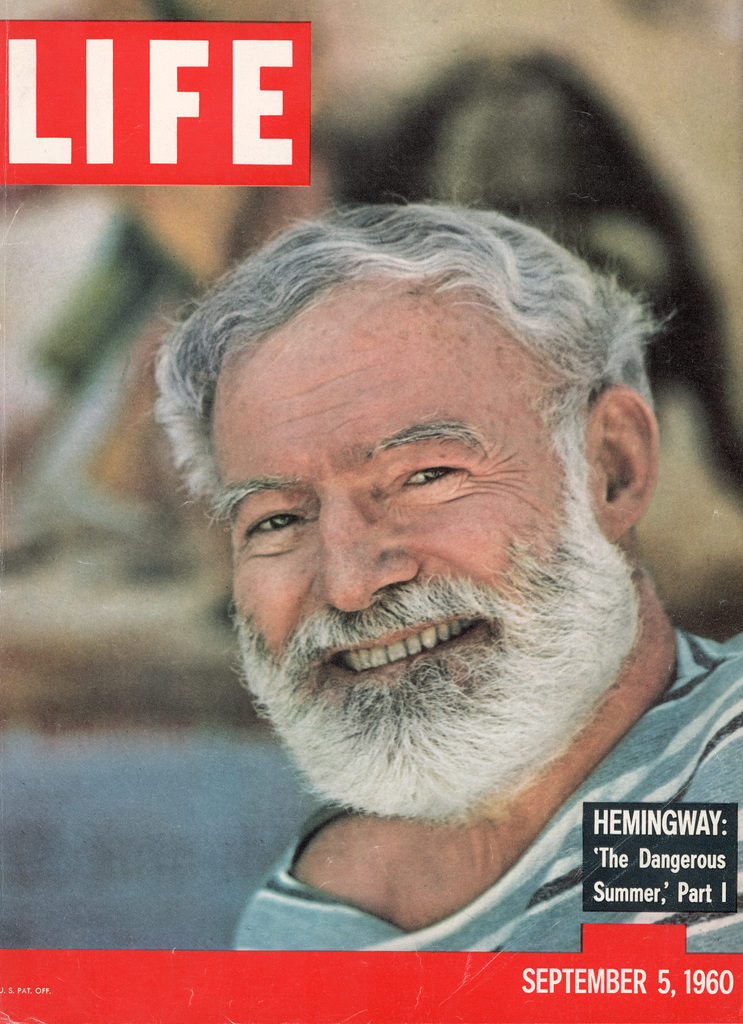 LIFE magazine cover published September 5, 1960, featuring author Ernest Hemingway. (Photo by Loomis Dean/The LIFE Picture Collection © Meredith Corporation)