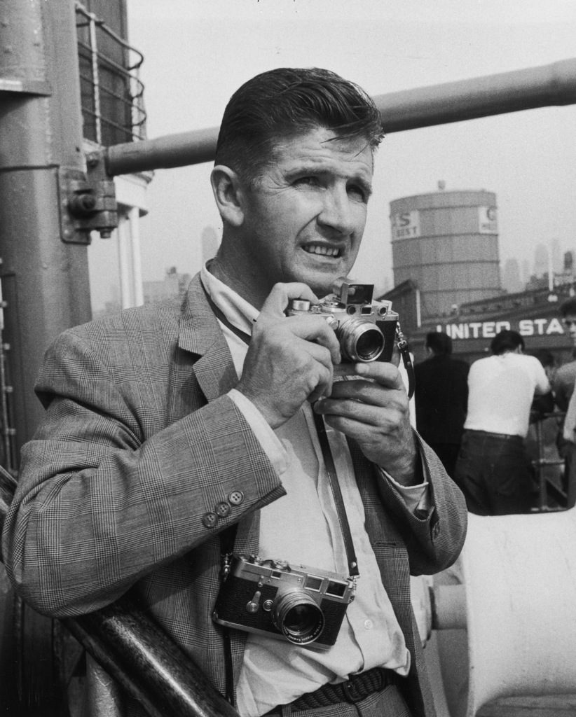 Loomis Dean on assignment for the rescue of survivors of the sinking of the Andrea Doria by the ocean liner Ile de France. (Photo by Cornell Capa/The LIFE Images Collection)