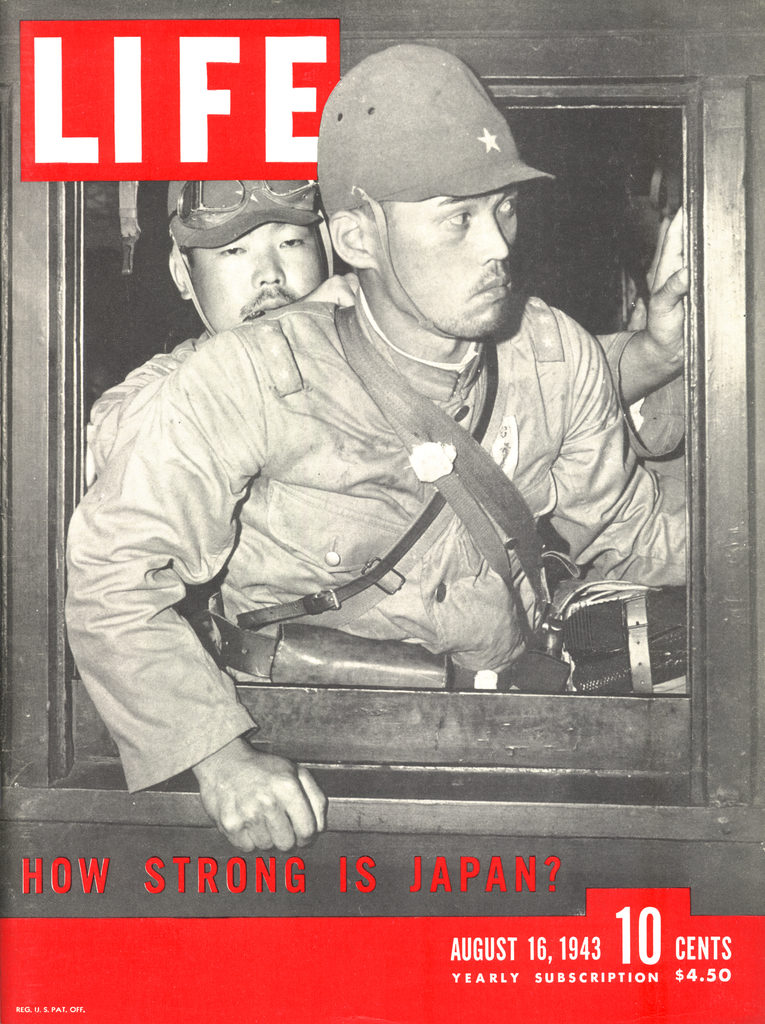 LIFE magazine cover published August 16, 1943, featuring Japanese soldiers. (Photo by Paul Dorsey/The LIFE Images Collection)