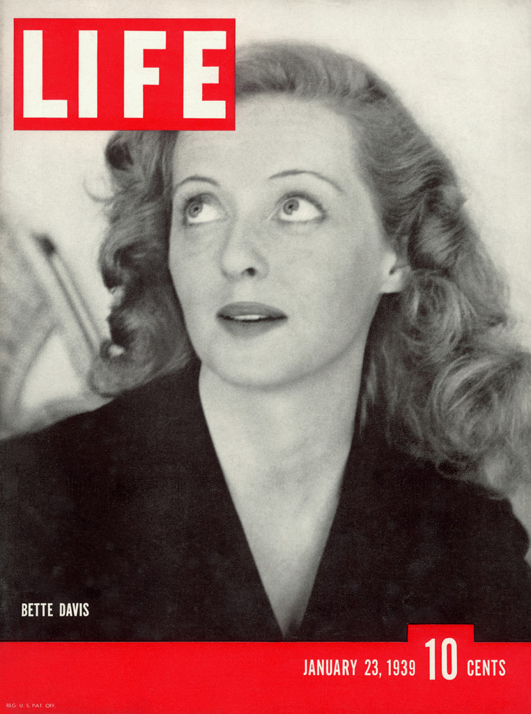 LIFE magazine cover published January 23, 1939 with movie star Bette Davis. (Photo by Alfred Eisenstaedt/The LIFE Picture Collection © Meredith Corporation)