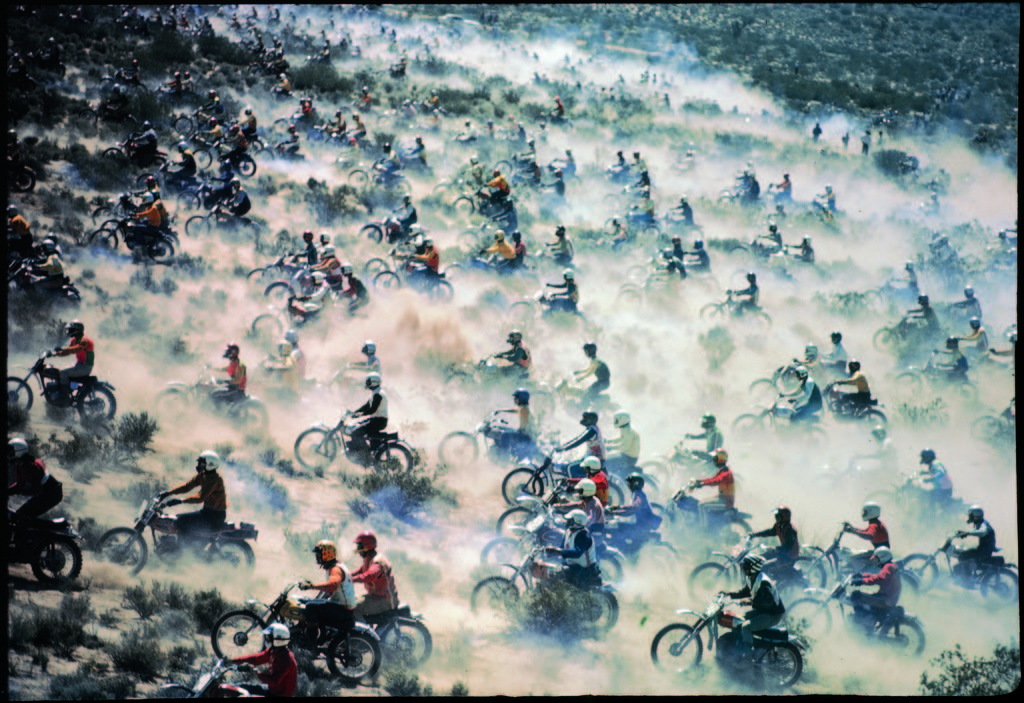 Motorcyclists racing 75 miles cross country through Mojave Desert. (Photo by Bill Eppridge/The LIFE Picture Collection © Meredith Corporation)