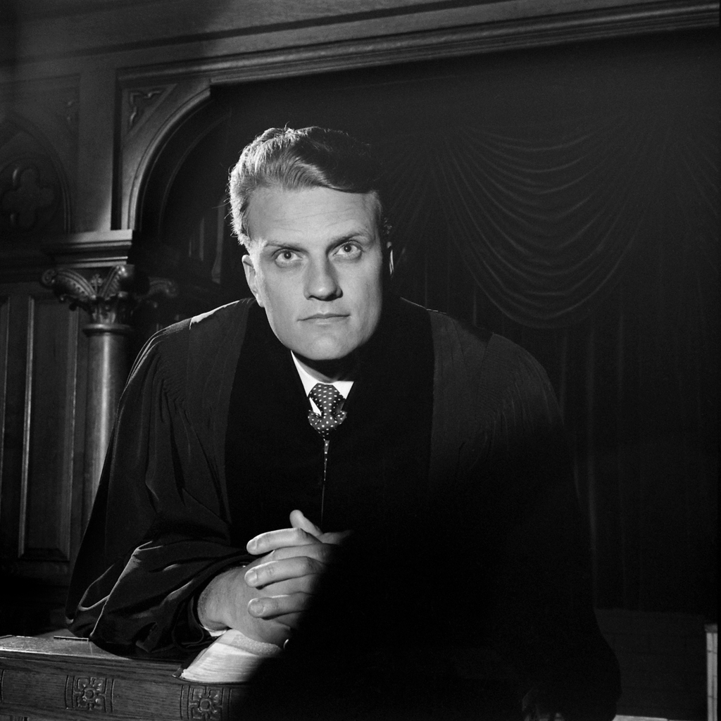 The Rev. Billy Graham in 1952.