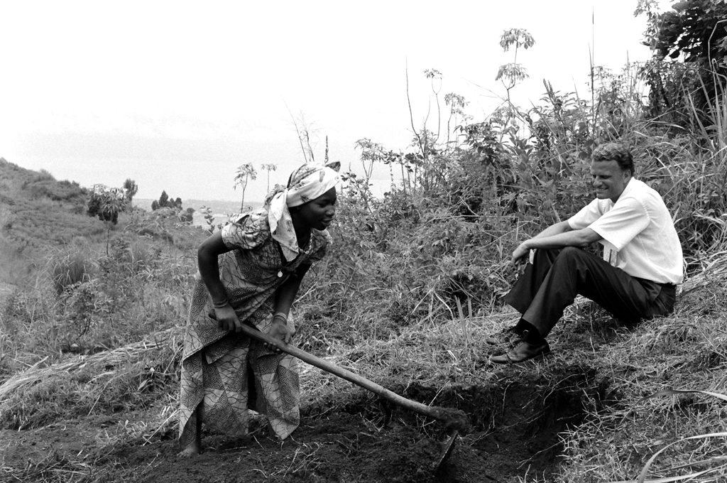 Billy Graham during his 1960 crusade through Africa.