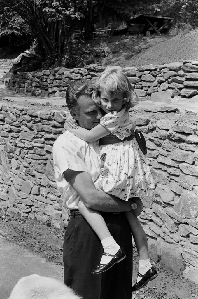 Billy Graham and his daughter, Ruth, in 1956.