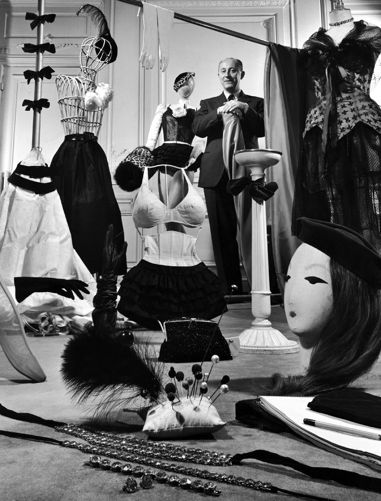 Christian Dior in his Paris salon, 1948