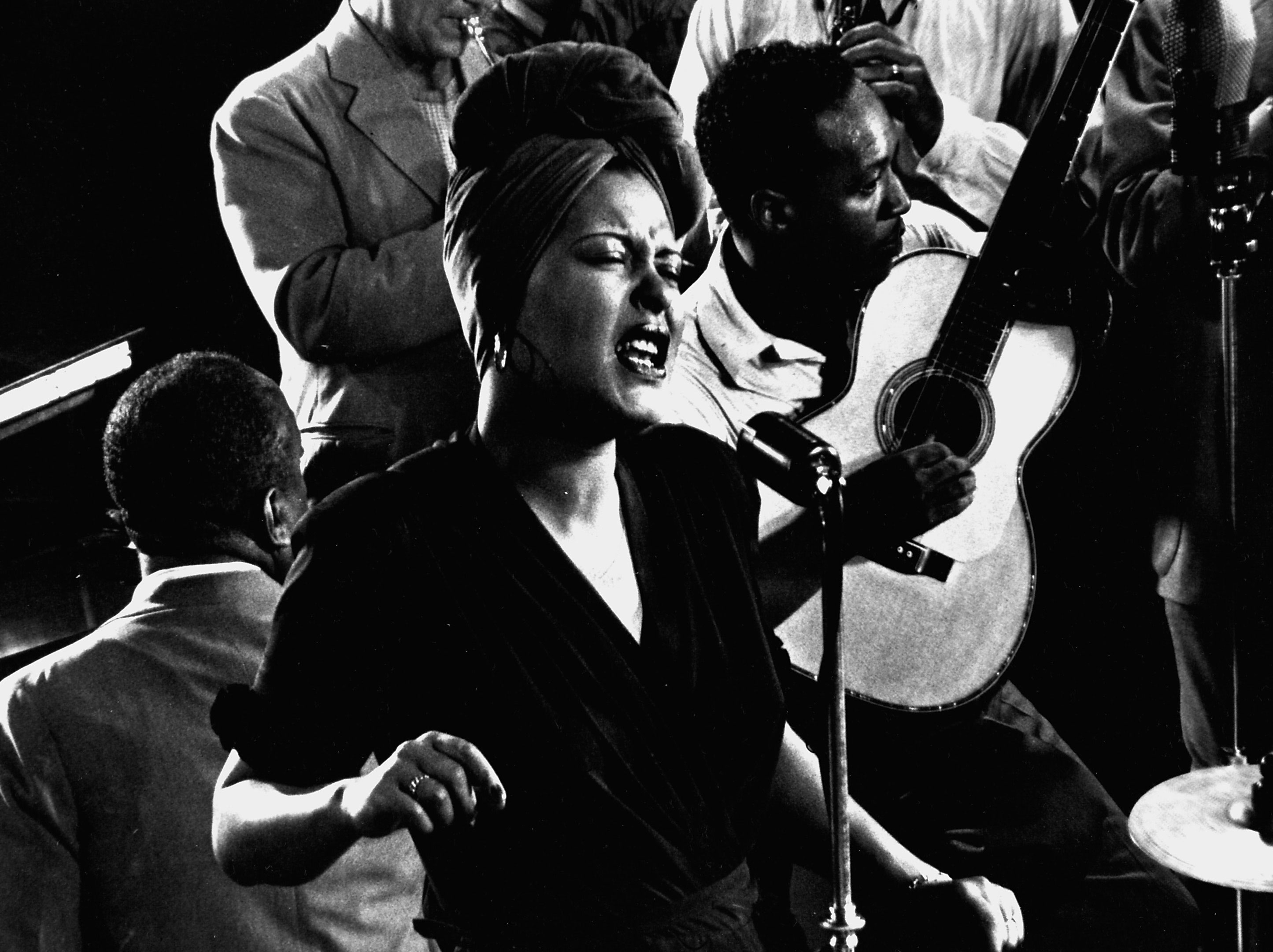 """Billie Holiday sings her standard, """"Fine and Mellow,"""" accompanied by James P. Johnson on piano and others, New York, 1943."""