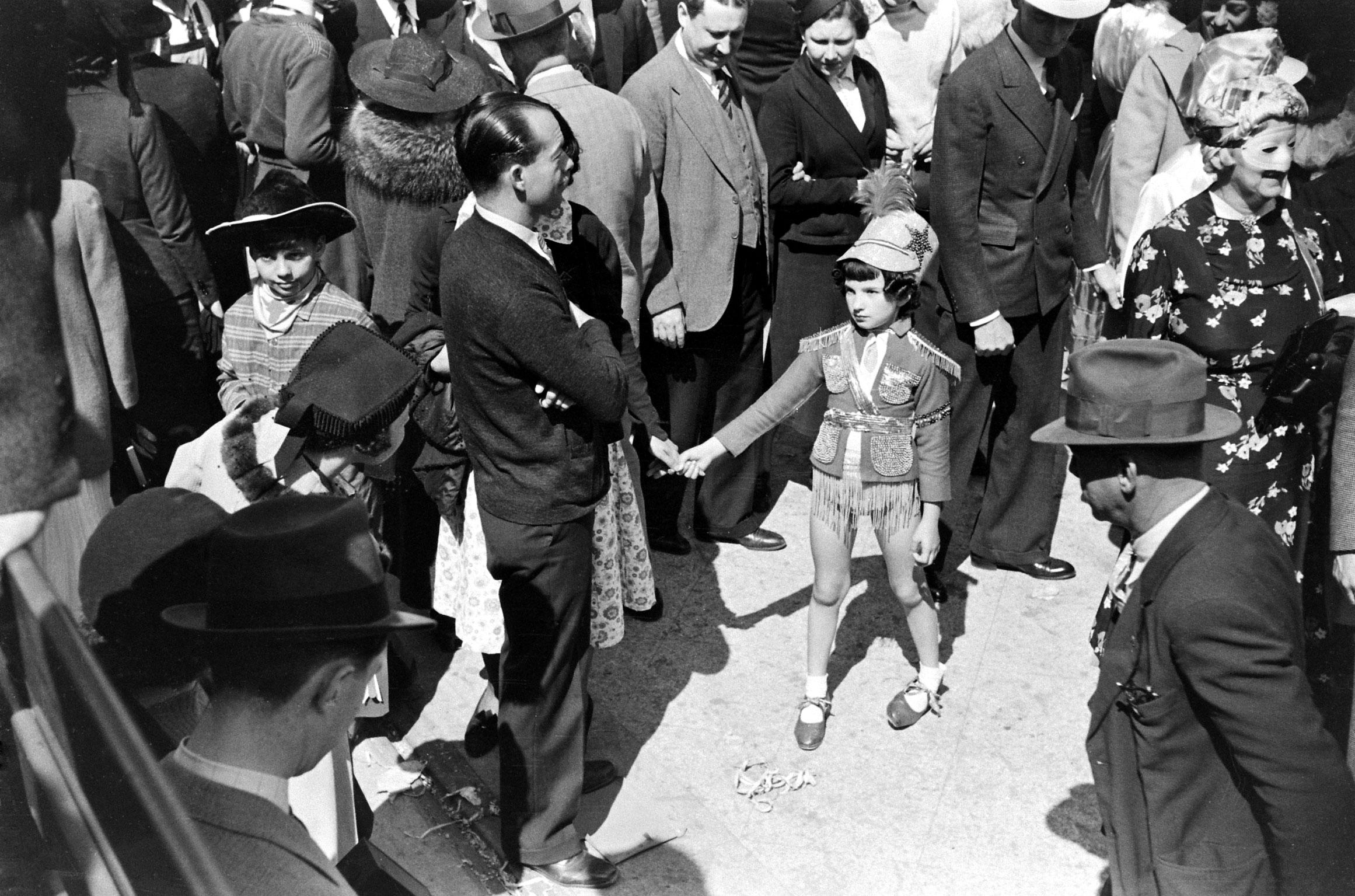 Mardi Gras, New Orleans, 1938.