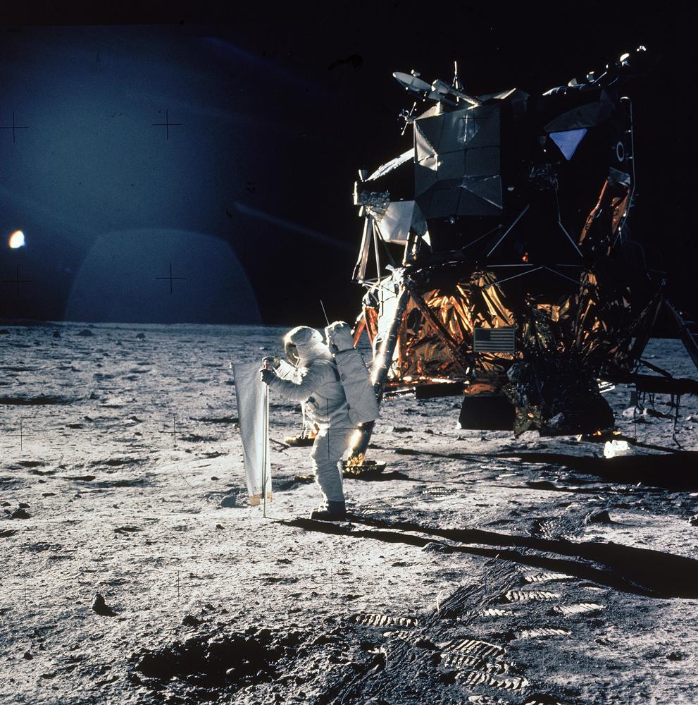 Apollo 11, Buzz Aldrin, lunar module, 1969