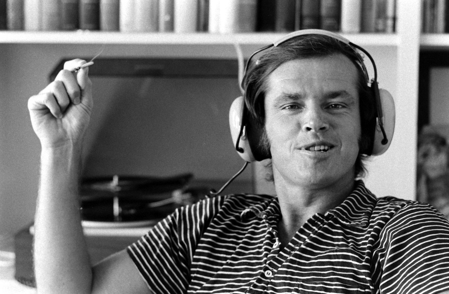 Jack Nicholson at home in Los Angeles, 1969.