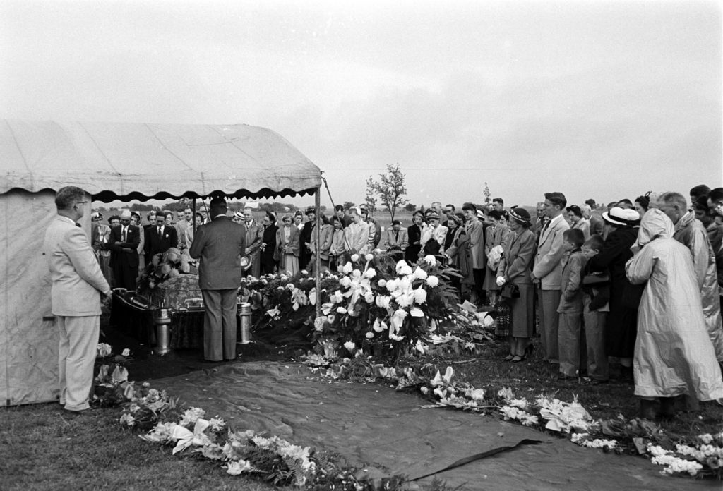 Funeral following the May 11, 1965, tornado that killed 114 people.