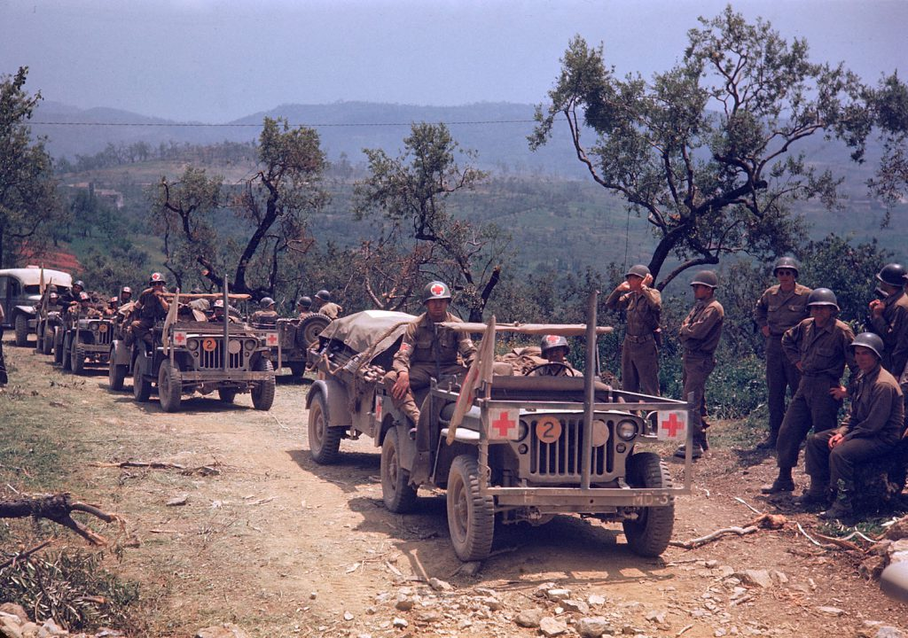 World War II, Italy, in color
