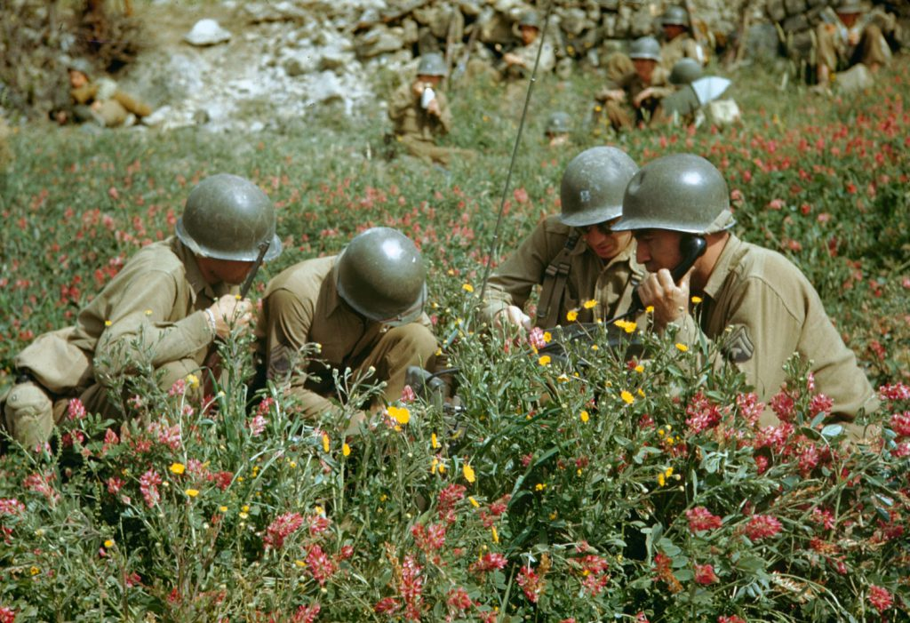 Liri Valley, on the road to Rome, 1944.