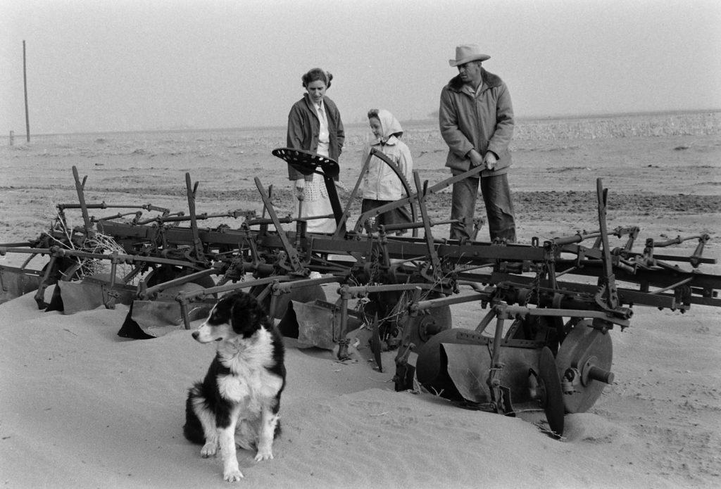 Colorado farming family during 1954 Dust Bowl.