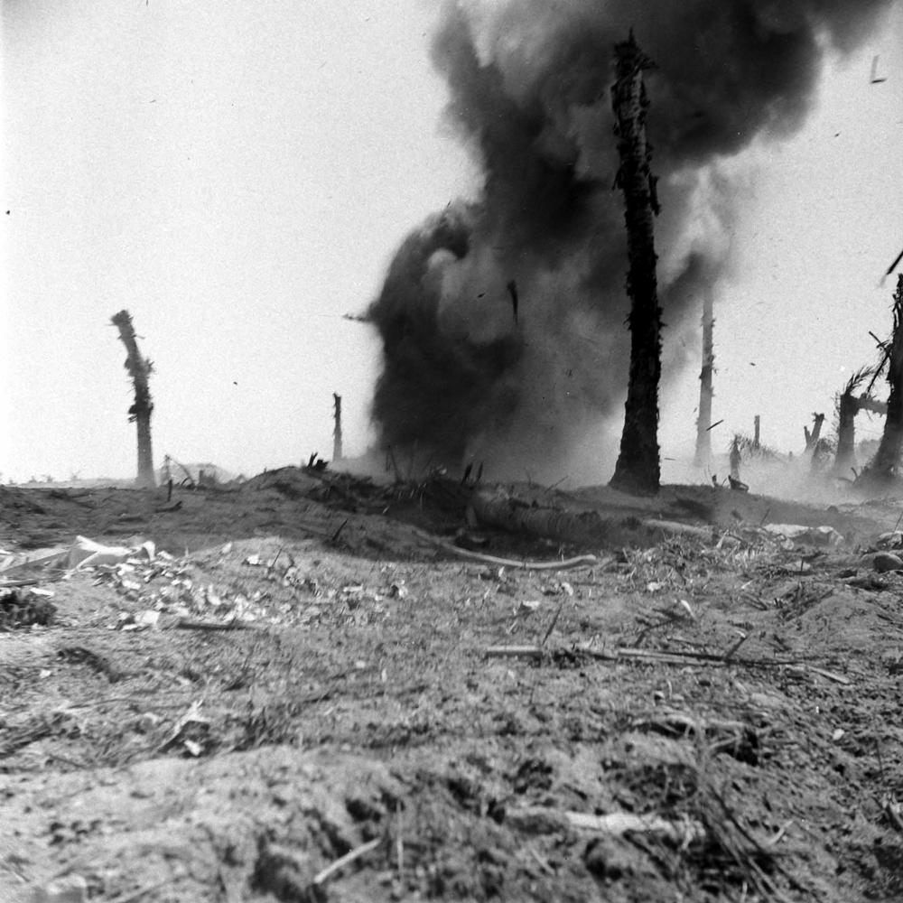 Engebi Island, Battle of Eniwetok, February 1944.