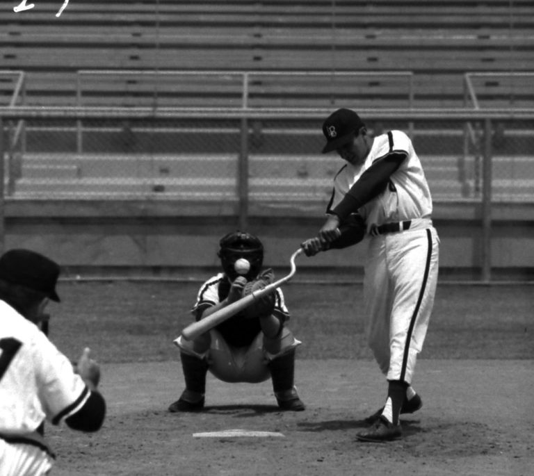 """The """"screwbat,"""" specially engineered to teach a hitter not to roll his wrists when he swings."""