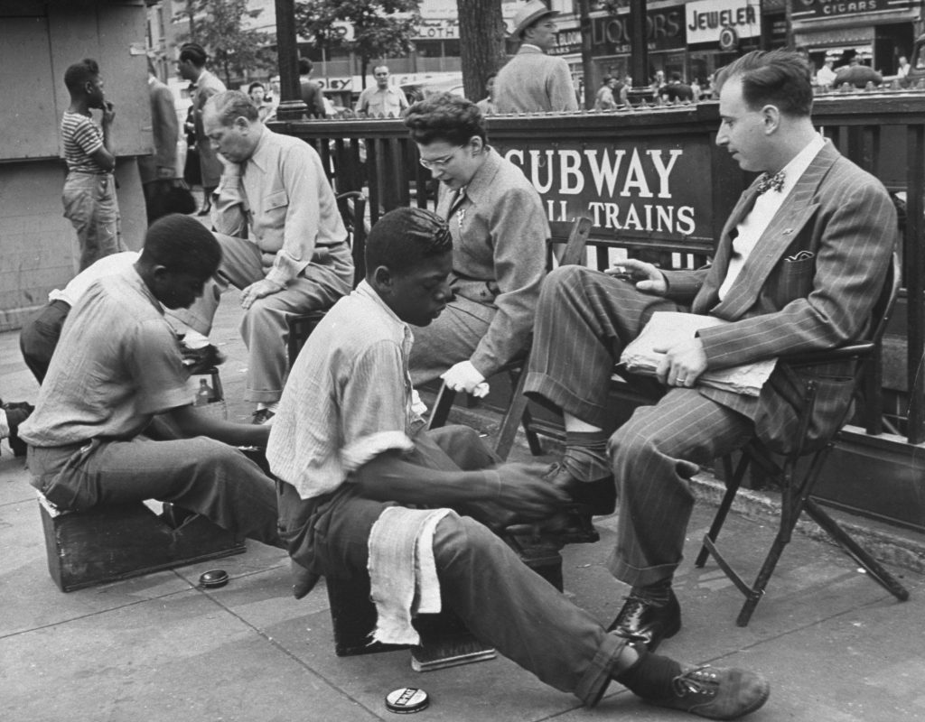 Subway entrance, Eastern Parkway at Utica Avenue, Brooklyn, 1946.