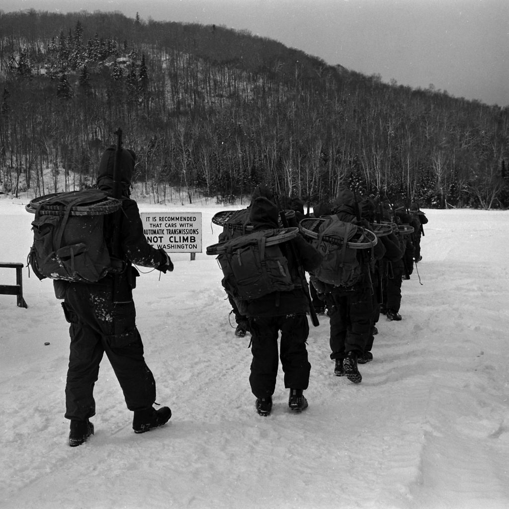 Military test, New Hampshire's Mount Washington, 1953.