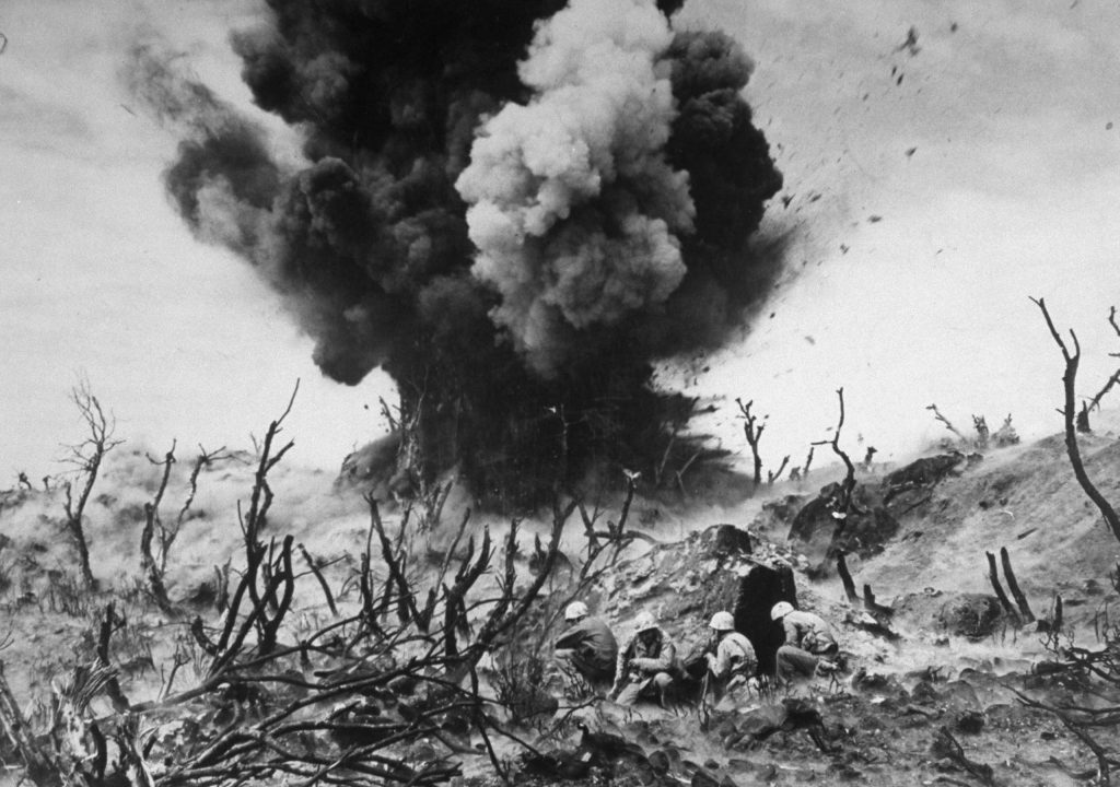 Behind the Picture: Marines Blow Up a Blockhouse, Iwo Jima, 1945