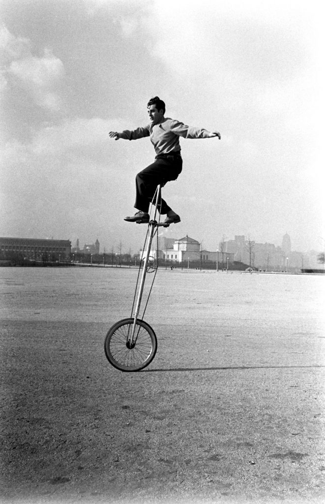 Unicycle, Chicago, 1948.