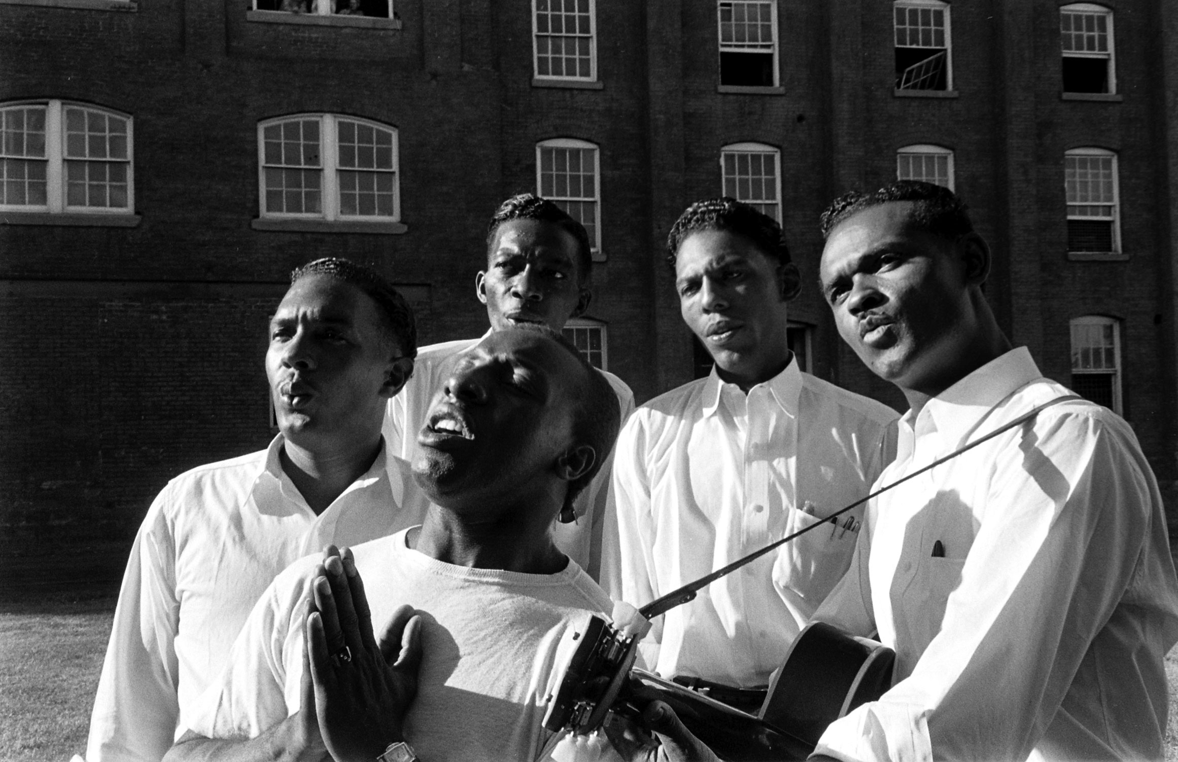 Members of the incarcerated musical group the Prisonaires, Tennessee, 1953.