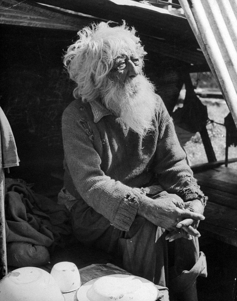 An elderly man in Hawaii.