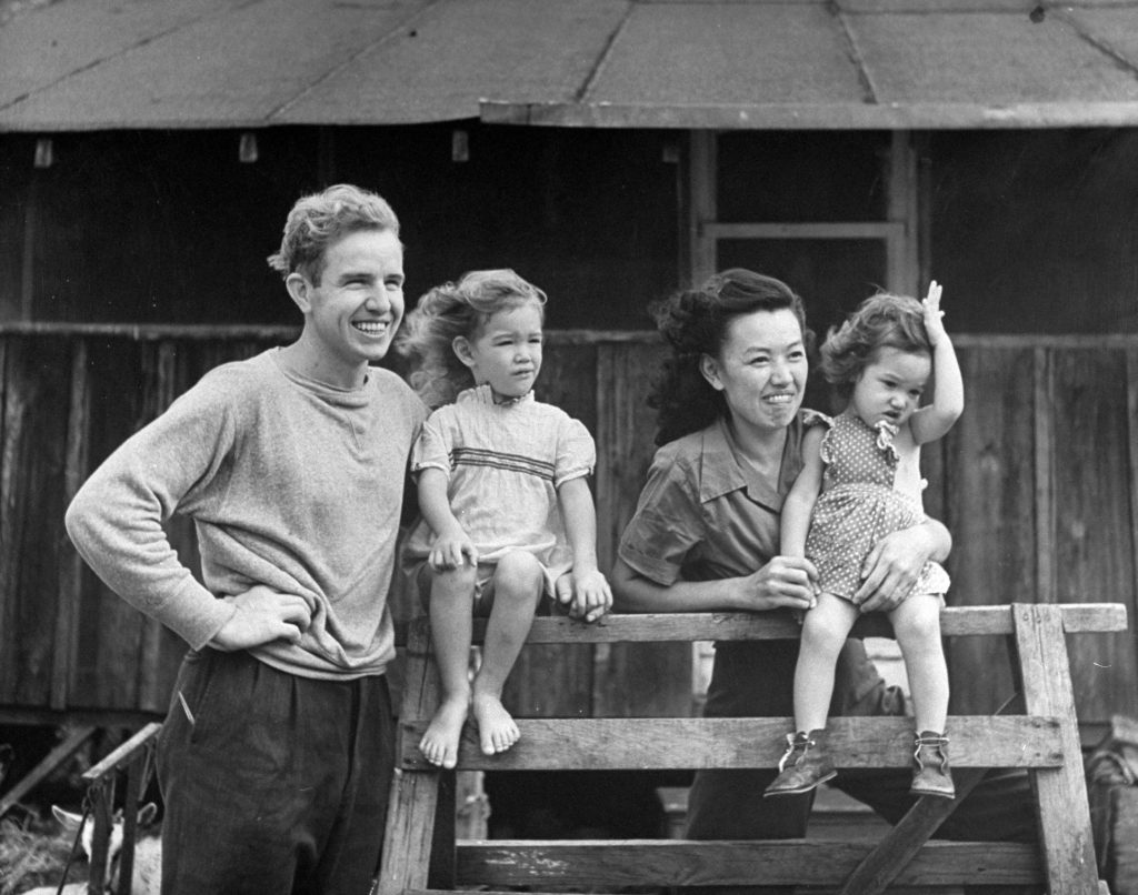 Indiana Quaker, Sam Lindley, married a Chinese Quaker and has two fair haired girls, Renie and Renda. He raises goats and works as librarian at the University of Hawaii. He studies Chinese, wants to visit China.
