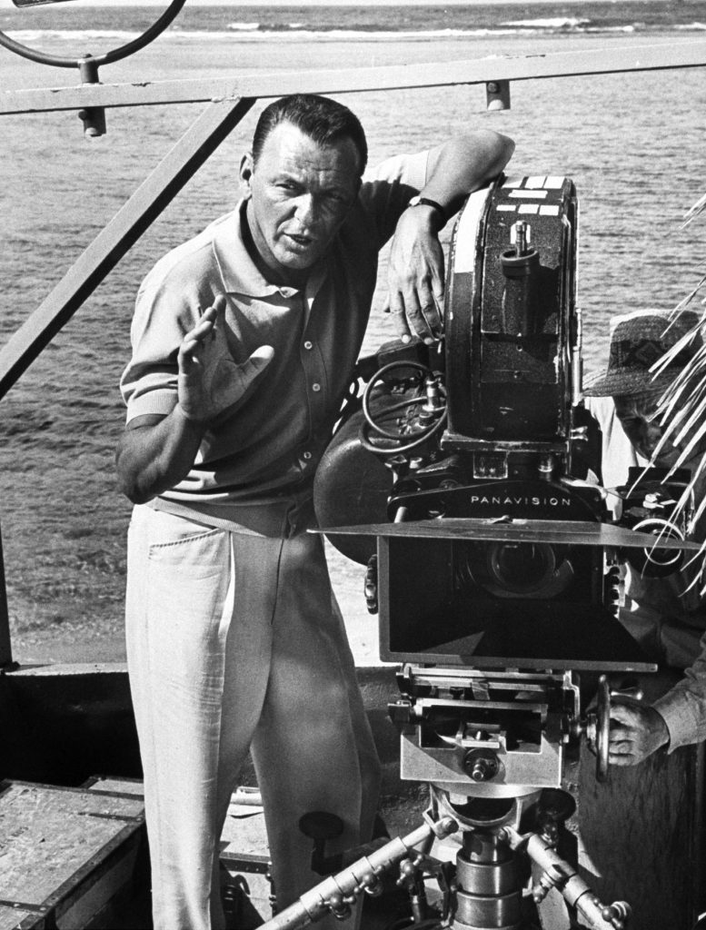 Director Frank Sinatra during filming of movie None But The Brave, 1964.