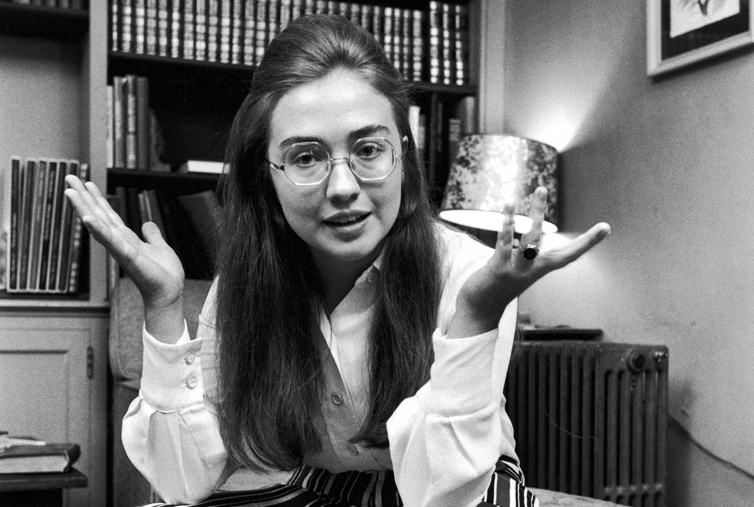 Hillary Rodham while at Wellesley College, 1969.
