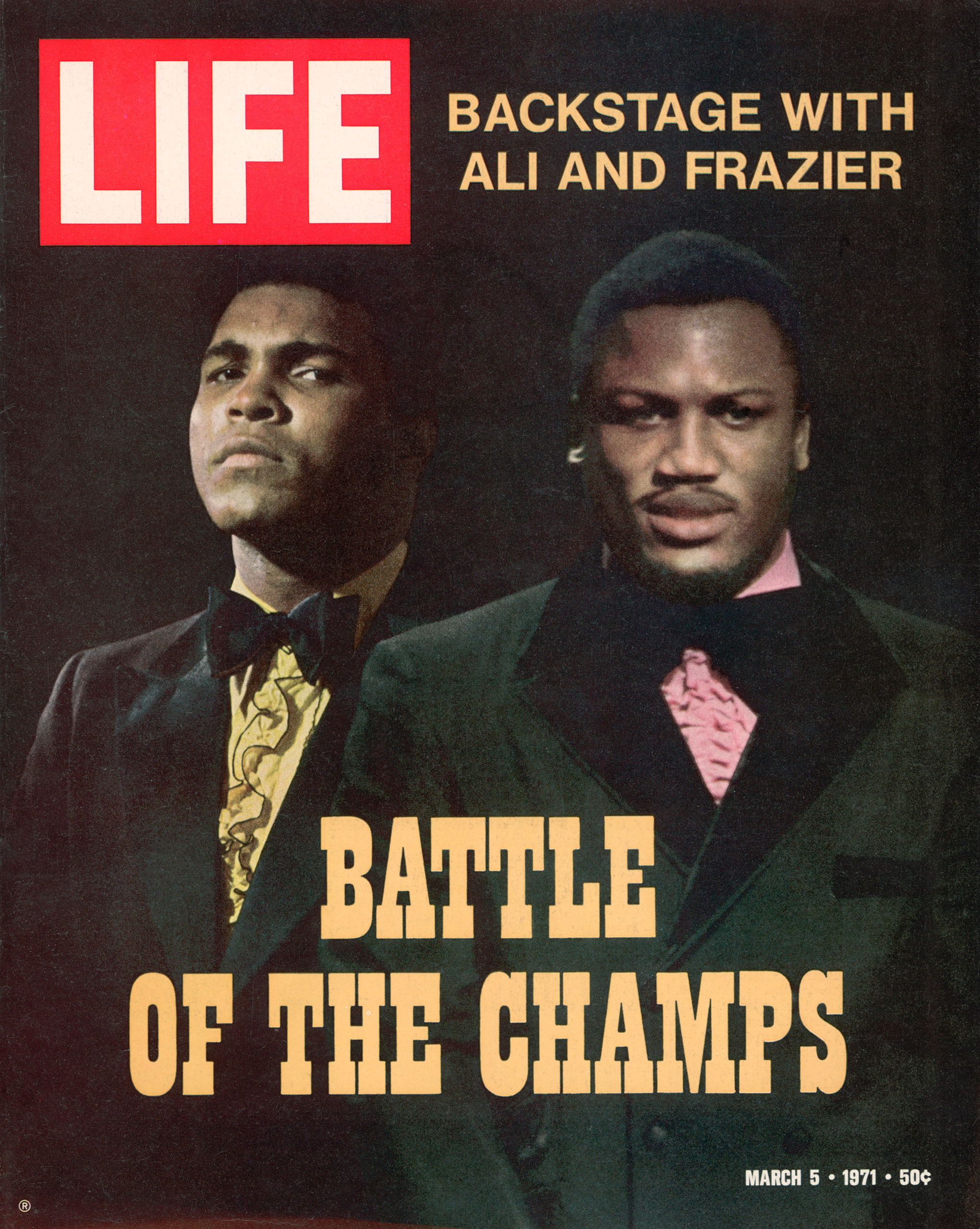 Muhammad Ali and John Frazier LIFE magazine cover dated March 5, 1971.