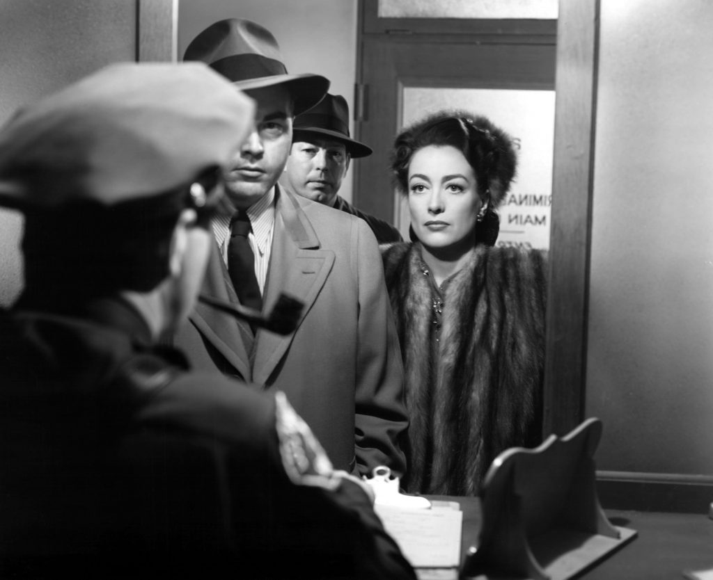 Mildred Pierce, James Flavin, Don O'Connor, Joan Crawford, 1945.