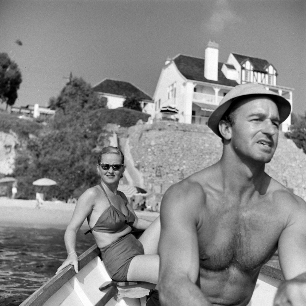 Bette Davis and her third husband William Grant Sherry boating in California, 1947.