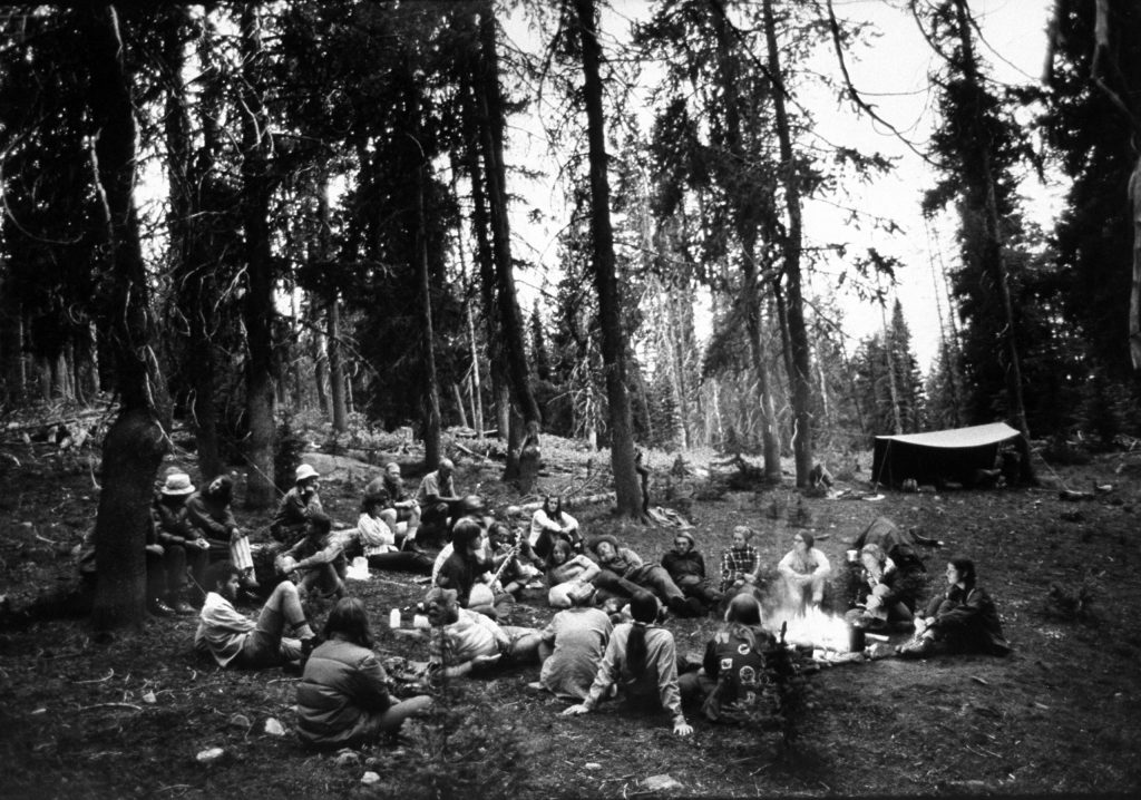 Mental patients camping in Oregon in 1972.