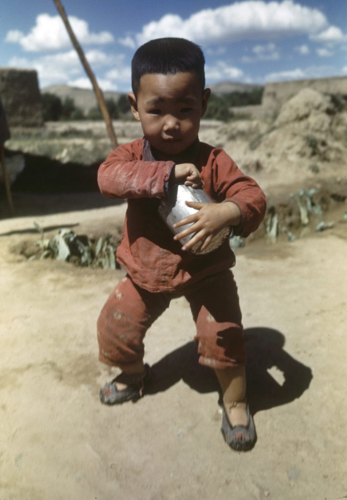 Young boy in the Tungkwan area of China, 1941.