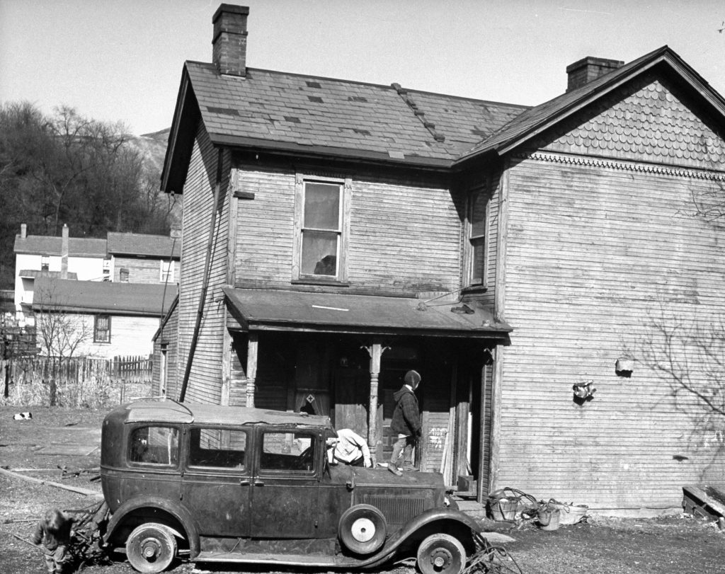 A steel worker's house in the slums of Pittsburgh.