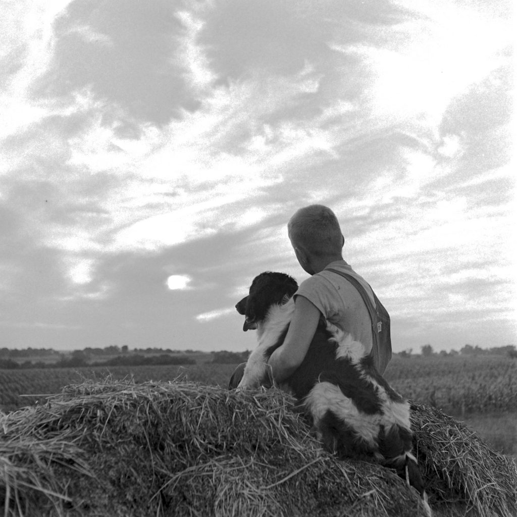 Boy And His Dog, Oskallsa, LA, 1945.