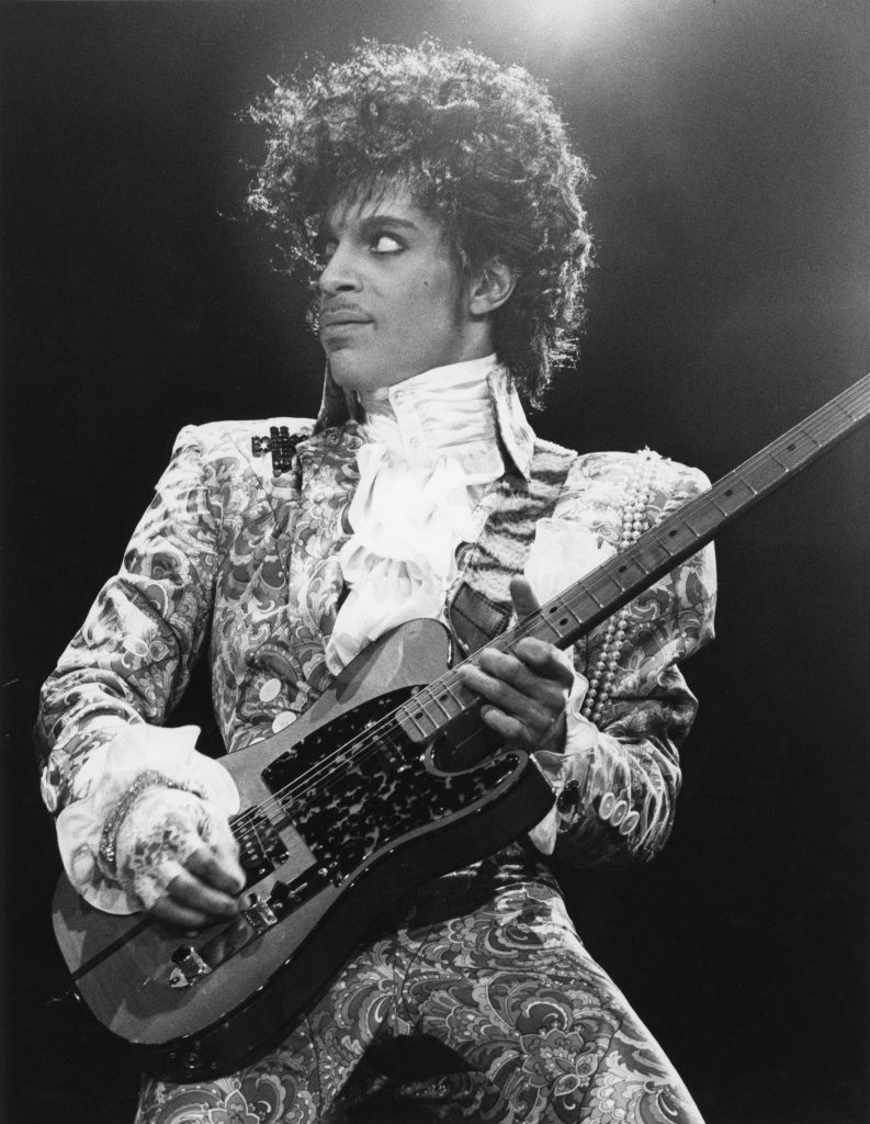 American singer, songwriter and musician Prince, circa 1985