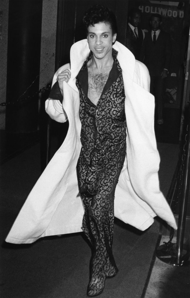 Musician Prince out in Hollywood, California, January 12, 1986.